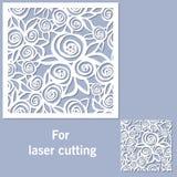 Decoratief element voor laserknipsel vector illustratie