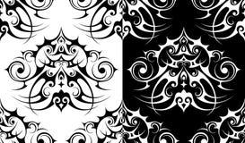 Decoratief elementen naadloos patroon Stock Fotografie
