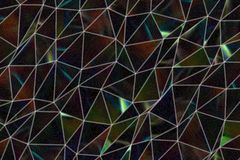 Decoratief en patroon van de geometrische illustraties van de driehoeksstrook Generatief, vorm, tekening & ontwerp royalty-vrije stock afbeeldingen