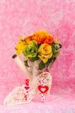 Decoratief en vazen van bloemen Royalty-vrije Stock Afbeeldingen