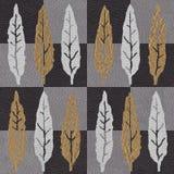 Decoratief esdoornblad - Binnenlands behang vector illustratie
