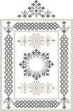Decoratief frame, grens van oosters ornament. Grap Stock Afbeeldingen