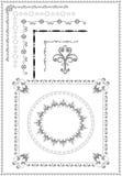 Decoratief frame, grens van ornament. Grafische art. Stock Afbeelding