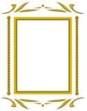 Decoratief frame. JPG en EPS stock illustratie