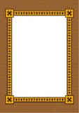 Decoratief frame met een ornament Vector Illustratie