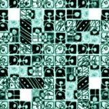 Decoratief Geometrisch Patroon in Koude Tonen Royalty-vrije Stock Foto