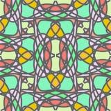 Decoratief gestileerd mozaïek naadloos patroon Royalty-vrije Stock Afbeeldingen