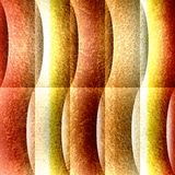Decoratief golvend patroon - naadloze achtergrond - oranjegele oppervlakte vector illustratie