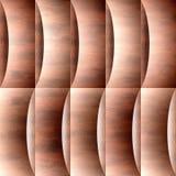 Decoratief golvend patroon - naadloze achtergrond - rode baksteenkleuring royalty-vrije illustratie