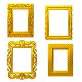 Decoratief gouden frame Stock Foto's