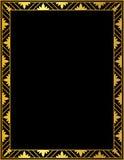 Decoratief gouden kader op een zwarte achtergrond Royalty-vrije Stock Foto's