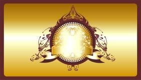Decoratief gouden schild Royalty-vrije Stock Fotografie