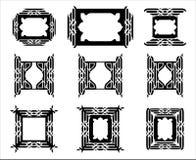 Decoratief grafisch kader Stock Afbeeldingen