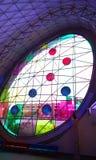Decoratief groot venster Stock Afbeeldingen