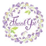 Decoratief handdrawn bloemen rond kader met schatbloemen, Stock Fotografie