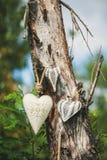 Decoratief hart op een boom Royalty-vrije Stock Afbeelding