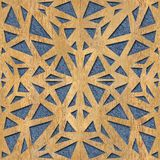 Decoratief het met panelen bekleden patroon - Binnenlandse muurdecoratie vector illustratie