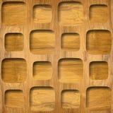 Decoratief het met panelen bekleden patroon - Binnenlandse muurdecoratie royalty-vrije illustratie