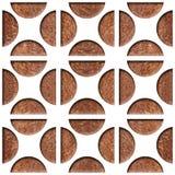 Decoratief het met panelen bekleden patroon - Binnenlandse muurdecoratie stock illustratie