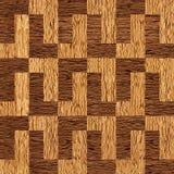Decoratief het met panelen bekleden patroon - okkernoot houten textuur royalty-vrije illustratie