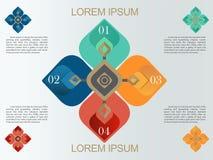 Decoratief het Patroonontwerp van Thailand voor Infographic of presentatie Ep2 Stock Afbeeldingen