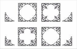 Decoratief hoek en kader Stock Fotografie