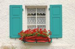 Decoratief houten venster Stock Afbeeldingen
