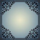 Decoratief kader in de stijl van wijnoogst Stock Afbeelding