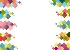 Decoratief kader met kleurrijke vierkanten op witte achtergrond royalty-vrije illustratie
