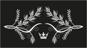 Decoratief kader met kroon Stock Afbeelding