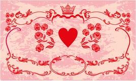 Decoratief kader met kroon Royalty-vrije Stock Afbeelding