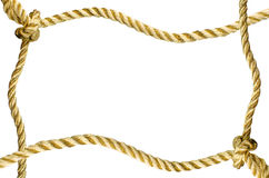 Decoratief kader van een gouden kabel Stock Afbeeldingen