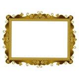 Decoratief kader van geregelde gouden kleur Royalty-vrije Stock Foto