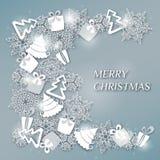 Decoratief Kerstmisontwerp of prentbriefkaar Stock Afbeeldingen