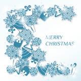 Decoratief Kerstmisontwerp of prentbriefkaar Royalty-vrije Stock Foto