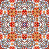 Decoratief kleurrijk naadloos patroon in mozaïek etnische stijl Stock Fotografie
