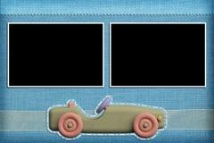 Decoratief malplaatje met fotokaders stock afbeelding