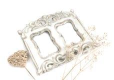Decoratief met de hand gemaakt samenstellings uitstekend kader en hart Royalty-vrije Stock Foto