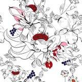 Decoratief naadloos behang Stock Afbeeldingen