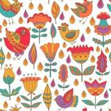 Decoratief Naadloos Patroon Als achtergrond stock afbeeldingen