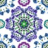 Decoratief naadloos patroon met gestileerde bloemenwaterverf royalty-vrije illustratie