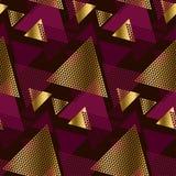 Decoratief naadloos patroon met gouden elementen Royalty-vrije Stock Foto