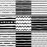 Decoratief naadloos patroon met handdrawn vormen vector illustratie