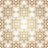 Decoratief naadloos patroon in ottomanemotief stock foto's
