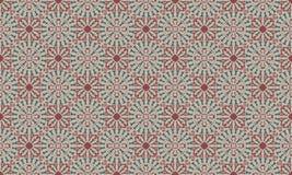 Decoratief Naadloos Patroon in Rode en Groene Kleuren vector illustratie