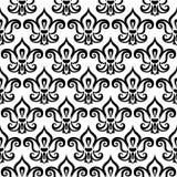Decoratief naadloos zwart fleur DE lis patroon Het naadloze patroon van DE lis van Fleur royalty-vrije illustratie
