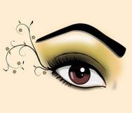 Decoratief oog stock illustratie