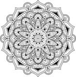 Decoratief ornament in etnische oosterse stijl Cirkelpatroon in vorm van mandala voor Henna, Mehndi, tatoegering, decoratie vector illustratie