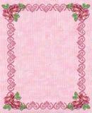 Decoratief ornament met rozen Royalty-vrije Stock Fotografie