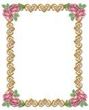 Decoratief ornament met rozen Stock Foto's